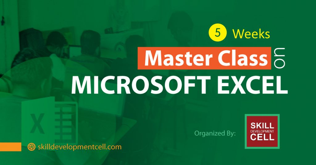 5 Weeks Master Class on Microsoft Excel Foundation to Advanced